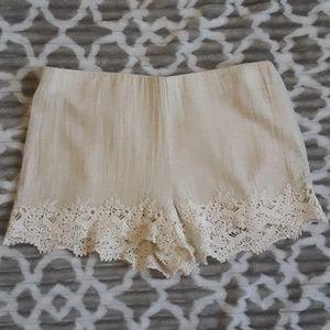 Zara Trafaluc Lace Shorts size xs